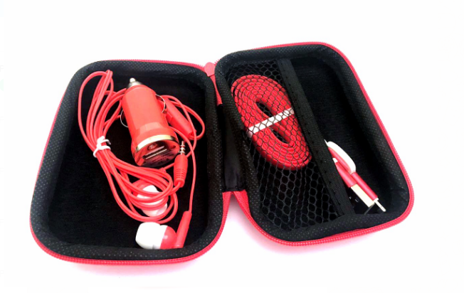 "Accessories Set "" Car Charger, Cable, Headsets"""